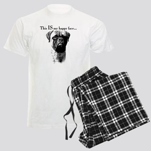 Bullmastiff Happy Face Men's Light Pajamas