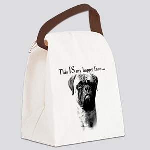 Bullmastiff Happy Face Canvas Lunch Bag
