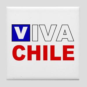 Viva Chile flag Tile Coaster