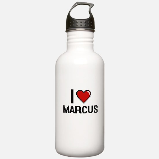 I Love Marcus Water Bottle