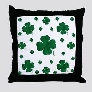 Shamrocks Multi Throw Pillow