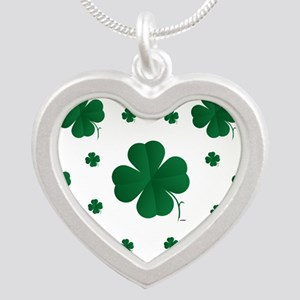 Shamrocks Multi Silver Heart Necklace