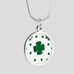 Shamrocks Multi Silver Round Necklace