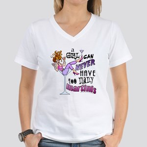A Girl Can Never Have Too Many MARTINIS! T-Shirt