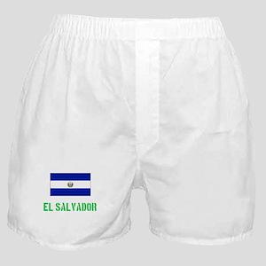 El Salvador Flag Stencil Green Design Boxer Shorts