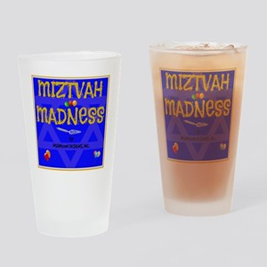 MITZVAH MADNESS Drinking Glass