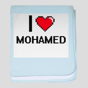 I Love Mohamed baby blanket