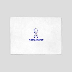 Diabetes Awareness 5'x7'Area Rug
