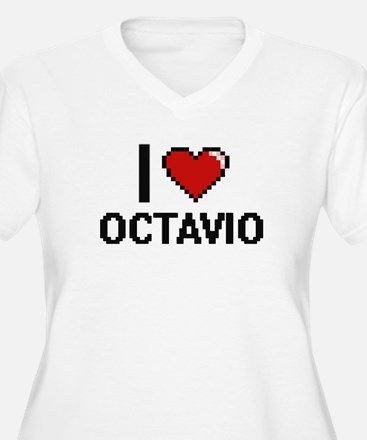 I Love Octavio Plus Size T-Shirt