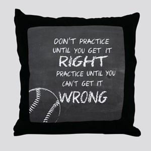 Practice baseball motivational Throw Pillow