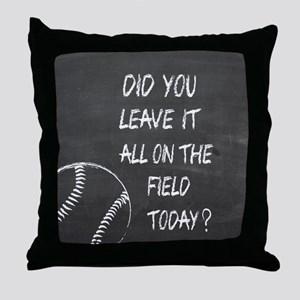 On the field baseball motivational Throw Pillow