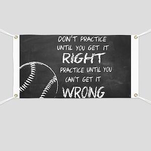 Practice baseball motivational Banner