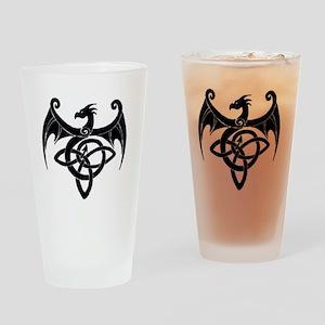 Celtic Dragon Drinking Glass