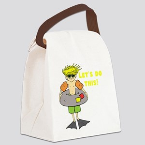Beach Bum Ready to Swim Canvas Lunch Bag