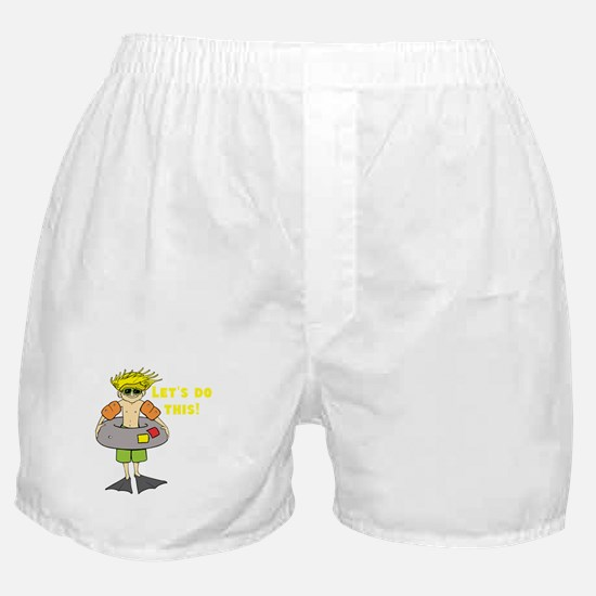 Beach Bum Ready to Swim Boxer Shorts