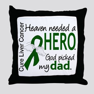Liver Cancer HeavenNeededHero1 Throw Pillow