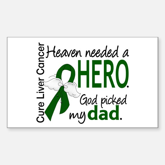 Liver Cancer HeavenNeededHero1 Sticker (Rectangle)