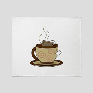 CUP OF HOT TEA Throw Blanket