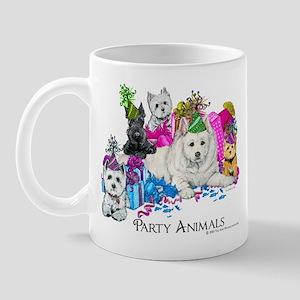Westie Party Dogs Mug