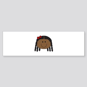 LITTLE GIRL FACE Bumper Sticker