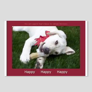 Be Happy Yellow Labrador Retriever Postcards (8)