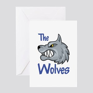 THE WOLVES Greeting Cards