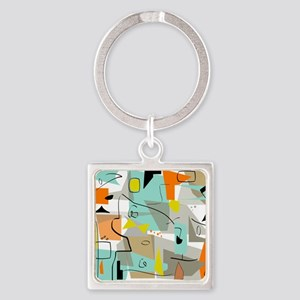 Mid-Century Modern Abstract Keychains