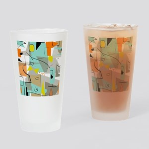 Mid-Century Modern Abstract Drinking Glass