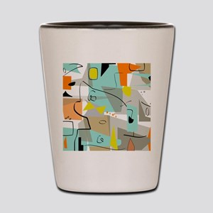 Mid-Century Modern Abstract Shot Glass