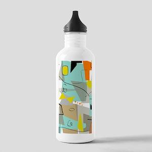 Mid-Century Modern Abstract Water Bottle