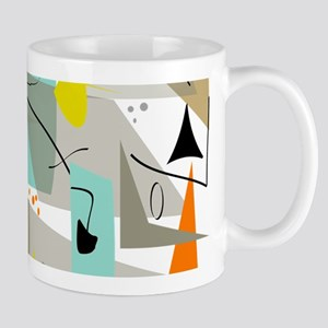 Mid-Century Modern Abstract Mugs