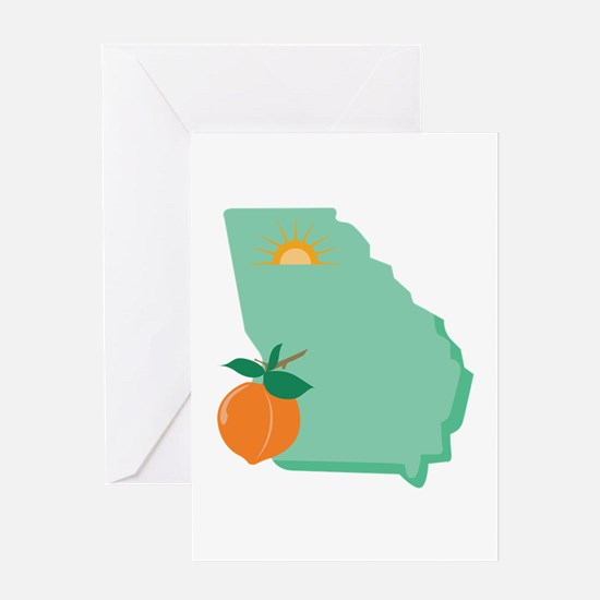 State Of Georgia Greeting Cards