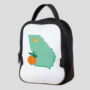 State Of Georgia Neoprene Lunch Bag