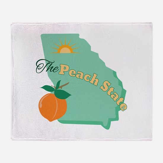 Peach State Throw Blanket