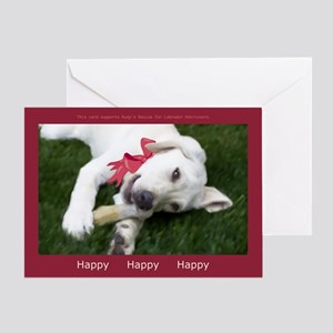 Be Happy Yellow Labrador Retriever Holiday Card
