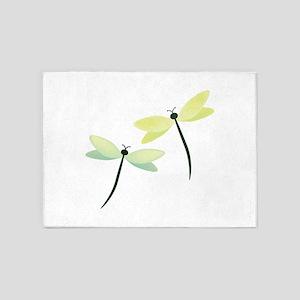 Dragonflies 5'x7'Area Rug