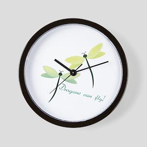 Dragons Cab Fly Wall Clock