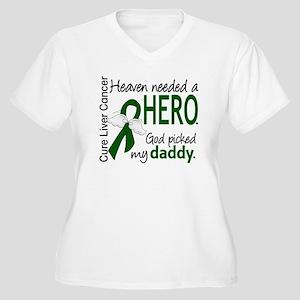 Liver Cancer Heav Women's Plus Size V-Neck T-Shirt