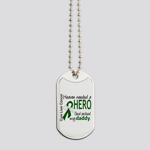 Liver Cancer HeavenNeededHero1 Dog Tags