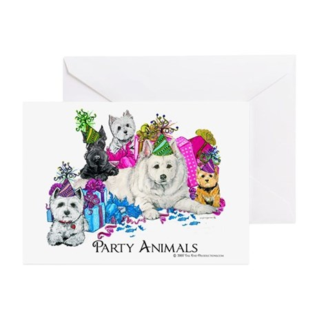 Westie Party Dogs Greeting Cards (Pk of 20)