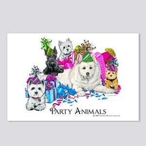 Westie Party Dogs Postcards (Package of 8)