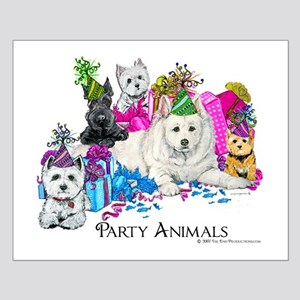Westie Party Dogs Small Poster