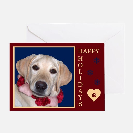Yellow Lab Puppy Holiday Greeting Card
