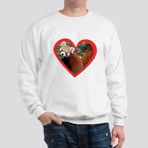 Red Panda Heart Sweatshirt