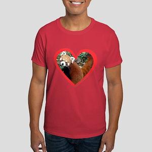 Red Panda Heart Dark T-Shirt