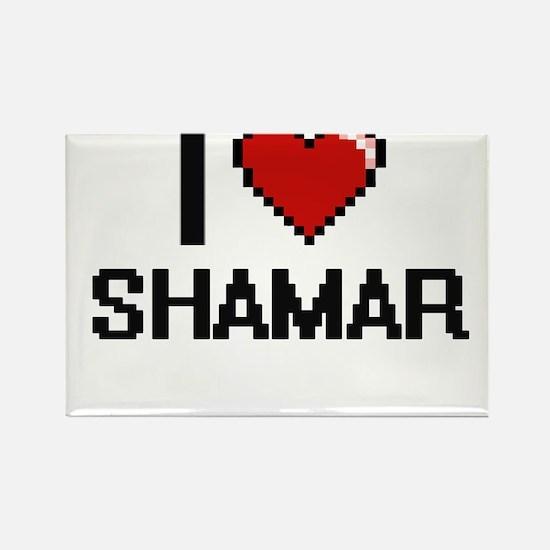 I Love Shamar Magnets