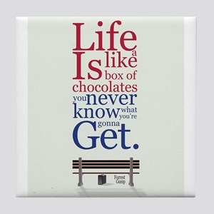 Forrest Gump Box Of Choclates Movie T Tile Coaster