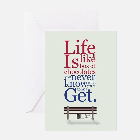 Forrest Gump Box Of Choclates Movie Greeting Cards