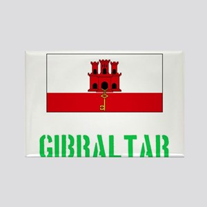 Gibraltar Flag Stencil Green Design Magnets