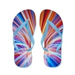 Vibrant Glow Art Flip Flops